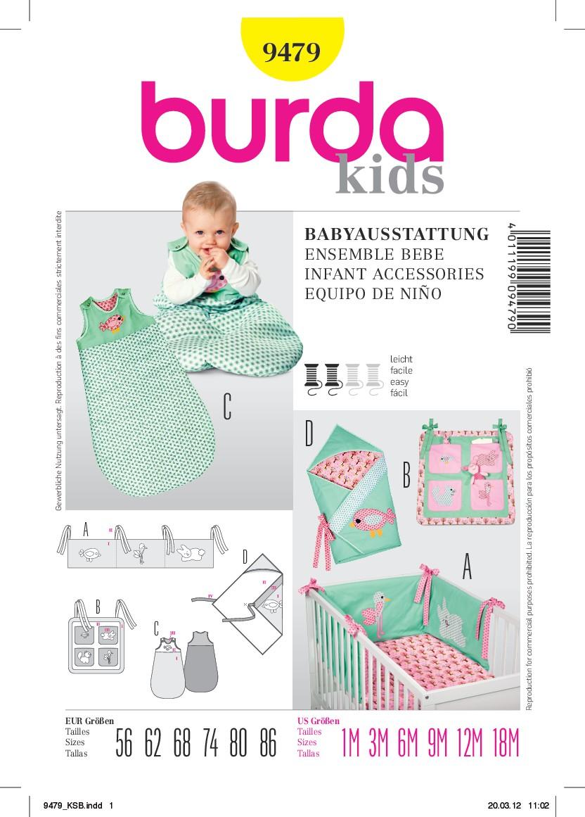 Burda Schnittmuster - Babyausstattung: Nestchen, Utensilo ...