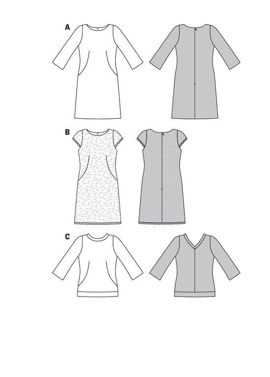 Burda Schnittmuster - Kleid – Spitzenkleid – U-Boot-Ausschnitt ...
