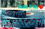 Webband Farbenmix Music in my Heart 15mm