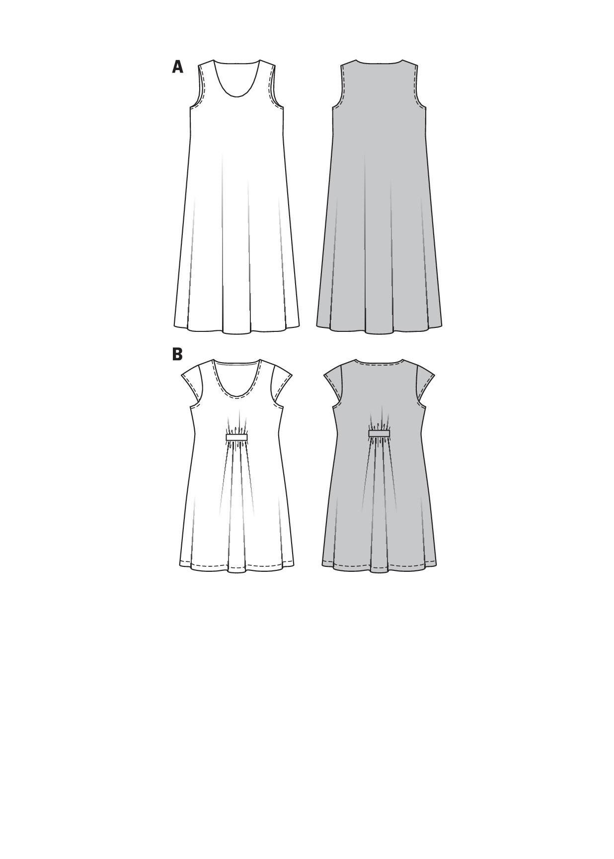 Schnittmuster kleid damen a linie