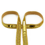 Paillettenband Line gold 12mm