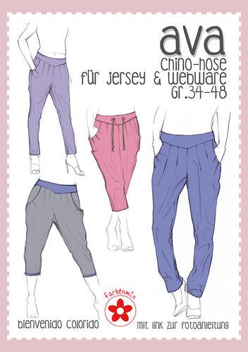 Schnittmuster Farbenmix Ava Chino-Hose für Damen - Kurzwarenland.de