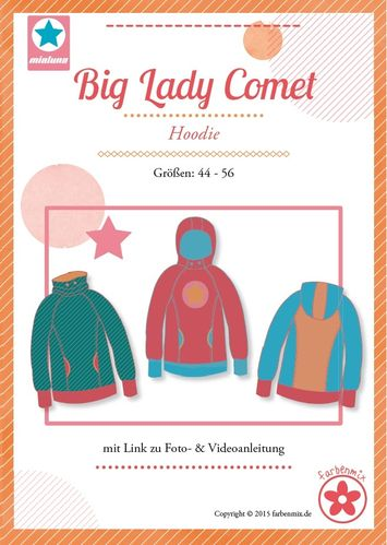 Schnittmuster Farbenmix Big Lady Comet Plus Size Hoodie