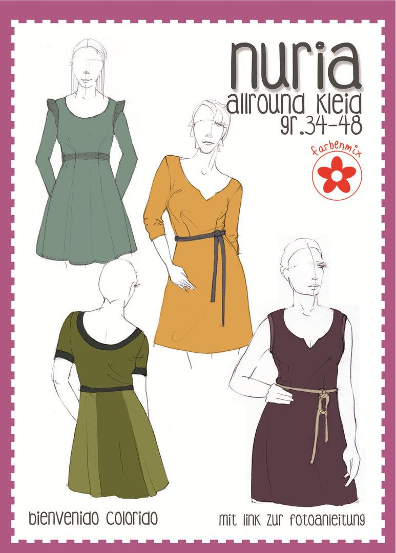 Schnittmuster Farbenmix Nuria Allround Kleid Fur Damen Kurzwarenland De