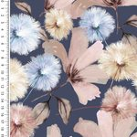 Baumwolljersey Digitaldruck Romantic Flowers Blau