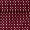 Baumwollstoff Popeline Little Pinetree Bordeaux